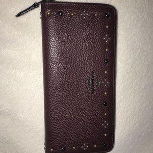Original Coach studded wallet